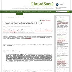 Education thérapeutique du patient (ETP)