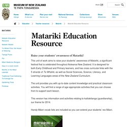 Matariki Education Resource