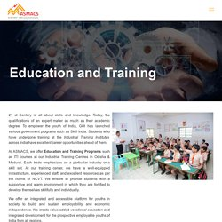 Education and Training - ITI, School and Colleges