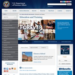The Home for All Educational Benefits Provided by the Department of Veterans Affairs