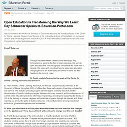Open Education Is Transforming the Way We Learn: Ray Schroeder Speaks to Education-Portal.com