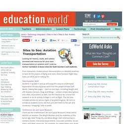 Education World: Sites to See: Aviation Transportation