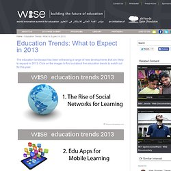 Education Trends: What to Expect in 2013