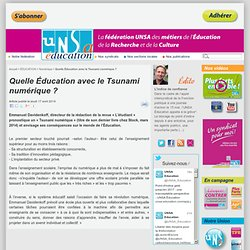 Quelle Éducation avec le Tsunami numérique ?