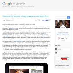 Tullahoma City Schools create digital textbooks with Google Docs