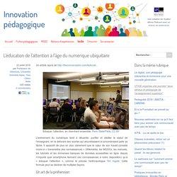 L'éducation de l'attention à l'âge du numérique ubiquitaire