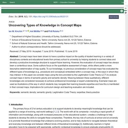 Uncovering Types of Knowledge in Concept Maps