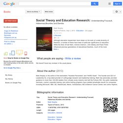 Social Theory and Education Research: Understanding Foucault, Habermas ... - Google Books