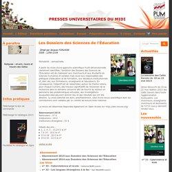 Les Dossiers des Sciences de l'Éducation - PUM Presses Universitaires du Midi