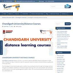Chandigarh University Distance Courses