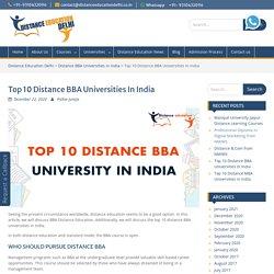 Best Distance Education Universities - Distance Education delhi