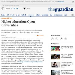 guardian: Once, higher education was public good Editorial
