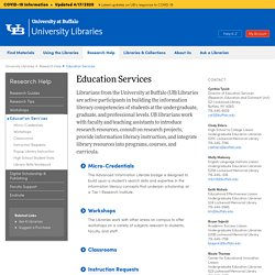 Education Services - University at Buffalo Libraries