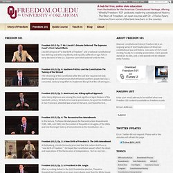 freedom.ou.edu : Online civic education from the University of Oklahoma