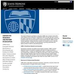 School of Education at Johns Hopkins University-Center for Research and Reform