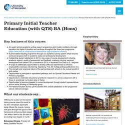 Primary Initial Teacher Education (with QTS) BA (Hons) - University of Worcester