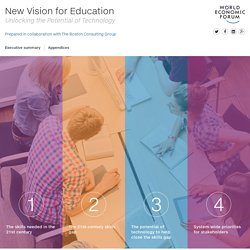 New Vision for Education - Unlocking the Potential of Technology
