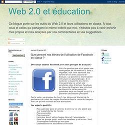 Que pensent nos élèves de l'utilisation de Facebook en classe ?