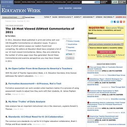 The 10 Most Viewed <i>EdWeek</i> Commentaries of 2011