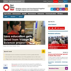 Laos education gets boost from Village Science project - SciDev.Net South-East Asia & Pacific
