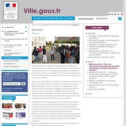 Éducation - Ville.gouv.fr - Ministère de la Ville