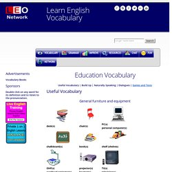 Education Vocabulary - Learn English Vocabulary