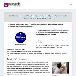 France 4 : cours en direct par des profs de l'Education nationale - VousNousIls