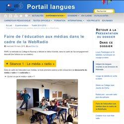Faire de l'éducation aux médias dans le cadre de la WebRadio