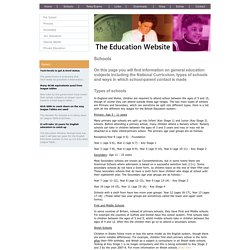 The Education Website - information on the British education system