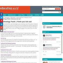 Technology Tools | Tools you can use