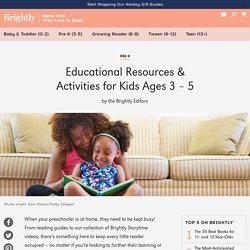 Educational Resources & Activities for Kids Ages 3 - 5