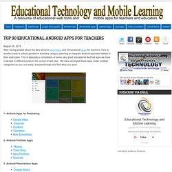 Top 90 Educational Android Apps for Teachers