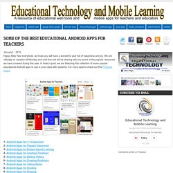 Some of The Best Educational Android Apps for Teachers