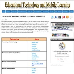 Top 70 Educational Android Apps for Teachers