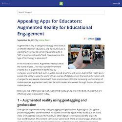 Appealing Apps for Educators: Augmented Reality for Educational Engagement - iPhone app article - Julene Reed