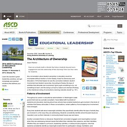 Educational Leadership:Giving Students Ownership of Learning:The Architecture of Ownership