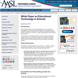 White Paper on Educational Technology in Schools