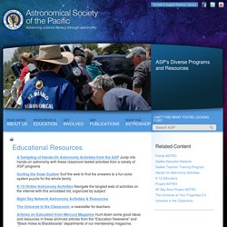 Educational Resources « Astronomical Society