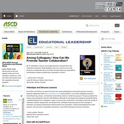Educational Leadership:What Students Need to Learn:How Can We Promote Teacher Collaboration?