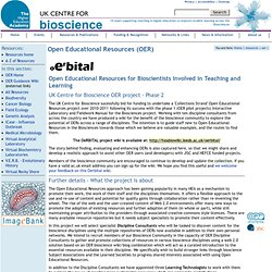 Open Educational Resources Project (Collections Strand) - OeRBITAL