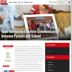 Educational Apps To Increase Effective Communication Between Parents & School