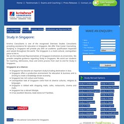 Study in Singapore: Educational Consultants for Singapore, Masters in Singapore