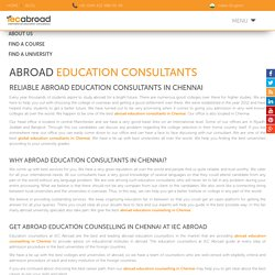 Top study abroad educational consultants in chennai