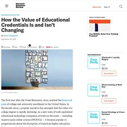 How the Value of Educational Credentials Is and Isn't Changing