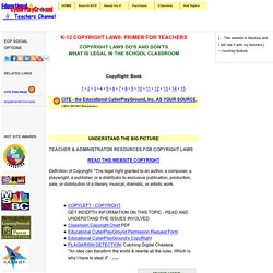 Copyright Laws for Teachers: Educational CyberPlayGround®
