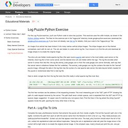 Log Puzzle Python Exercise - Educational Materials