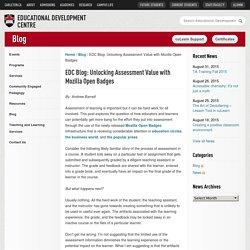 EDC Blog: Unlocking Assessment Value with Mozilla Open Badges - Educational Development Centre