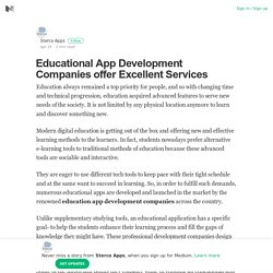 Educational App Development Companies offer Excellent Services