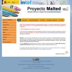 Proyecto Malted - Multimedia Authoring for Language Tutors and Educational Development