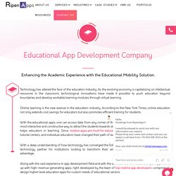 Educational App Development Company in USA, UAE & India